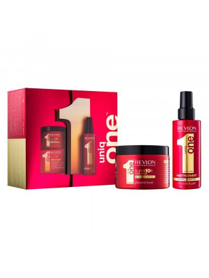 Kit Spray de Tratamento Revlon Uniq One Leave In 150ML + Mascara Capilar Uniq One Super10R 300ML